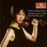 Music by Ralph Shapey (Centaur Records) Five, Mann Soli and Partita for violin, Etchings, Millenium Designs
